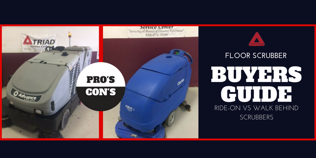 Floor Scrubber Buyers Guide: Walk Behind or Ride On Scrubbers?