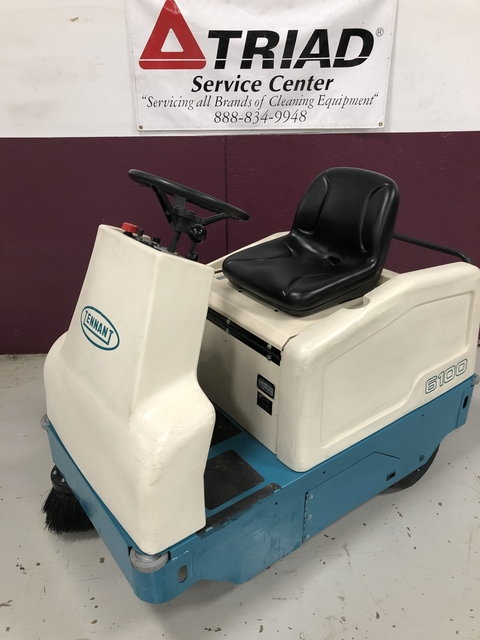 Tennant 6100 Sub-Compact Ride-On Sweeper For Sale